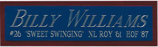 BILLY WILLIAMS CHICAGO CUBS NAMEPLATE AUTOGRAPHED BAT-BASEBALL-JERSEY-PHOTO-CAP