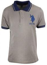 Camisetas de niño de 2 a 16 años manga corta en gris con 100% algodón
