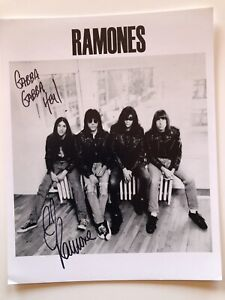 Cj Ramone The Ramones Signed 8 X 10 Autograph Photo