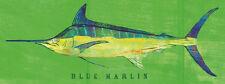 FISH FISHING ART PRINT - Blue Marlin by John Golden 19x13 Coastal Boat Poster