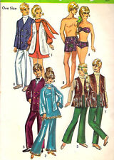 "Simplicity 9054 Vintage 11½"" Fashion & 12"" Boyfriend Dolls' Wardrobe Pattern"