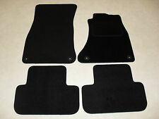 Audi A4 2008-2015 Tailored Fit Car Mats in Black - Fixings on both front mats