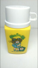 VTG 1983 CABBAGE PATCH KIDS Yellow Thermos 8 oz. Flip Up Sip Top Lunchbox