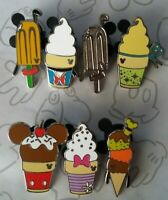 Ice Cream Frozen Treats 2018 Hidden Mickey DLR WDW Disney Pin Make a Set Lot