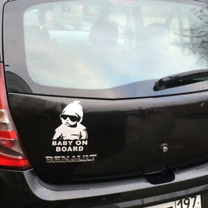 Cool Baby On Board With Sunglasses Car Decals Sticker AUSSIE SELLER
