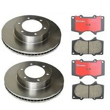 Toyota Tundra 2000-2002 Front Brembo Left & Right Disc Rotors And Pads Brake KIT