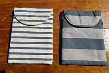 Lot 2 Baggu i Pad Cases Striped Tablet Sleeve Covers Recycled Cotton & Fleece