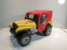 TONKA NIGHTFLYER JEEP W/ REMOVEABLE RED FABRIC CANOPY TOP #2410