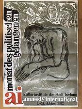 AMNESTY INTERNATIONAL  1982 BOCHUM  - orig.Concert-Konzert-Poster A1 F/U