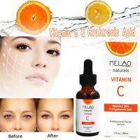 Pure Vitamin C 20%+serum Hyaluronic Acid 70% Face Anti Aging Wrinkle Acne