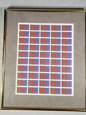 """Framed USPS """"LOVE"""" Sheet of 50 Postage Stamps ($0.08 each)"""