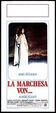 LA MARCHESA VON LOCANDINA FILM ERIC ROHMER 1976 LA MARQUISE D'O PLAYBILL POSTER