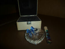 Swarovski Crystal Heart Shaped Trinket Box With Vial of Crystals in Box