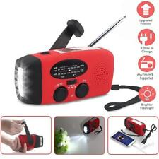 AM/FM Radio Functional Emergency Light Solar Power Hand Crank Dynamo LED Light