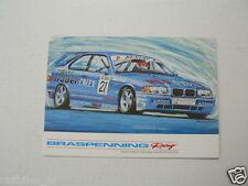 BRASPENNING RACING AMSTERDAM BMW INFOCARD-POSTCARD