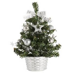 Mini Christmas Tree Desk Table Decoration Gift Cute Xmas Home Decor Decorations
