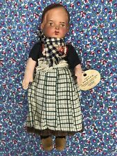 "Vintage EVA Celluloid Head & Cloth Body 'Europe' Holland 10"" Doll C. 1930's"