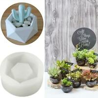 Hexagon Flower Pot Silicone Molds DIY Garden Planter Concrete Vase Soap Mould N