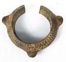Art African Arts First - Antique Bracelet Bronze Akan with Jingle Bells - 13,7