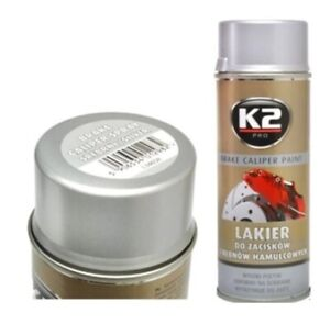 K2 BRAKE CALIPER PAINT SILVER HIGH Heat 260°C Resistant Spray Lacquer - 400 mL