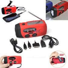 Emergency Hand Crank Solar Dynamo AM/FM/WB Radio,Phone Charger,3 LED Flashlight