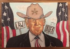 President Donald Trump Original Art Sketch Card 1/1 Signed By Artist Tony Keaton
