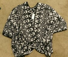 Target collection black check poncho open front  cardi  sz2XL BNWT free post D25