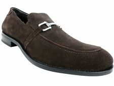 Stacy Adams Men's Gulliver Bit Loafers Brown Suede Size 8 M