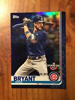 KRIS BRYANT—2019 Topps Opening Day BLUE FOIL SPARKLE #45—SHORT PRINT | SP