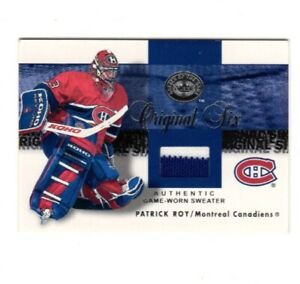 2001/02 Fleer Great Of The Game Original Six*Patrick Roy*Jerseys (White/blue) #9