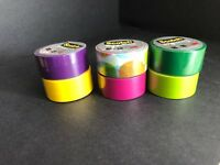 6 Assorted Rolls of Scotch Expressions Washi Tape NEW