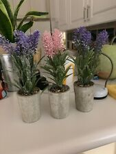 3 x Brand New High Quality Pot Artificial Plants * 8 Inch Tall L@K