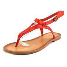 Calzado de mujer planos de piel color principal rojo