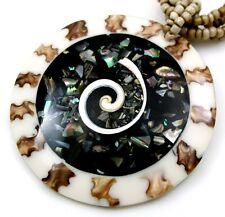 CONE SHELL, SHIVA EYE & PAUA ABALONE necklace ; DA017