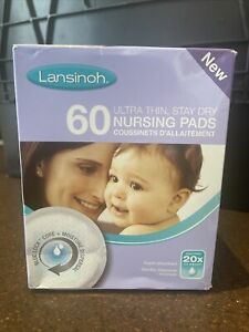 Lansinoh Disposable Nursing Breast Pads Pack of 60 Individually Wrapped