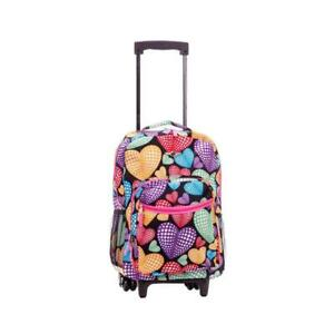 Rockland Roadster Backpack 17 in. Double Wheel Multi-Colored Polyester