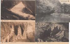 Lot 4 cartes postales anciennes BELGIQUE HAN SUR LESSE GROTTE 3