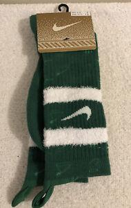 Men's Nike Elite Crew Christmas Green Basketball Socks Size L 8-12  CK6786-312
