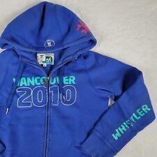 Vancouver 2010 Winter Olympics XXI Sweatshirt Jacket CANADA Souvenir Blue M RARE