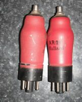 2 EBC33 RED MILITARY AR21 VERSION AVO TESTED VERY GOOD VALVES TUBES