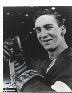 TED LINDSAY signed 8x10 photo DETROIT RED WINGS HOF