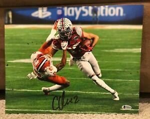 Chris Olave Autographed 11 x 14 Ohio State Buckeyes Photo