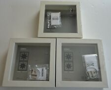 """3 New IKEA White RIBBA Shadow Box Picture Frames 5 1/2"""" X 5 1/2"""" X 1 3/4"""""""
