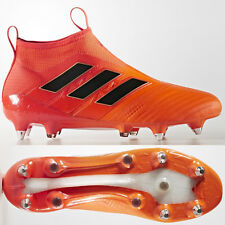 timeless design e91bc 8d6f8 adidas Mens Ace 17 PureControl SG Laceless Football BOOTS Orange Uk6