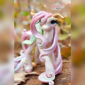 Whisper Fillies Silkwing The Luna Moth Pegasus Filly - Pony Figurine doll