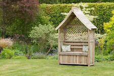 Zest 4 Leisure Norfolk Arbour Wooden Garden Seat & Storage Box Trellis Sides