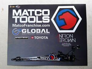 2021 Nhra Hero Card Atron Brown Matco Tools Top Fuel