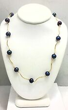 "CULTURED TAHITIAN PEARLS NECKLACE 14K YELLOW GOLD - 20"" Long *Free Shipping*"