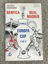 More details for 1962 - european cup final programme - benfica v real madrid - original