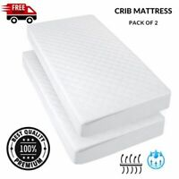 Pack Of 2 80 X 45 X 4 CM Waterproof Crib/Cot Mattress Quilted Breathable SALE
